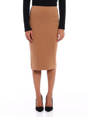 Diane Von Furstenberg: Knee length skirts & Midi online - Bicolour knit pencil skirt