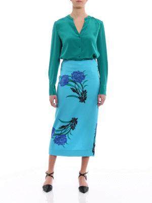 Diane Von Furstenberg: Knee length skirts & Midi online - Farma tailored midi pencil skirt