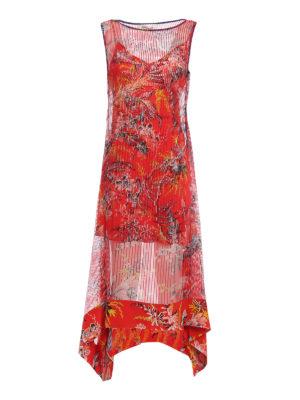 Diane Von Furstenberg: maxi dresses - Floral asymmetric tiered dress