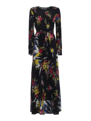 Diane Von Furstenberg: maxi dresses - Floral silk maxi dress