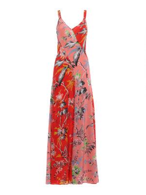 Diane Von Furstenberg: maxi dresses - Floral silk panelled slip dress