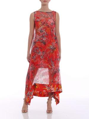 Diane Von Furstenberg: maxi dresses online - Floral asymmetric tiered dress