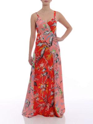 Diane Von Furstenberg: maxi dresses online - Floral silk panelled slip dress