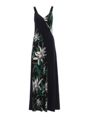 Diane Von Furstenberg: maxi dresses - Printed silk panels long dress