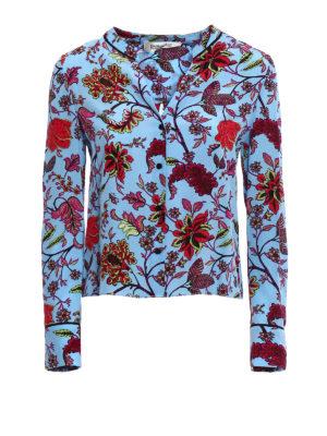 Diane Von Furstenberg: shirts - Crepe de chine printed shirt