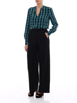 Diane Von Furstenberg: shirts online - Printed crepe de chine shirt