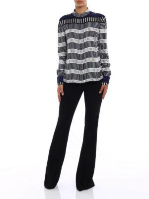 Diane Von Furstenberg: shirts online - Rodin print silk shirt