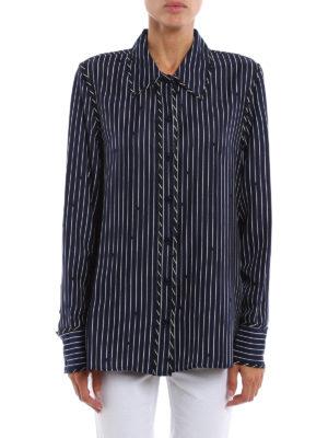 Diane Von Furstenberg: shirts online - Striped silk shirt