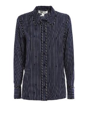 Diane Von Furstenberg: shirts - Striped silk shirt