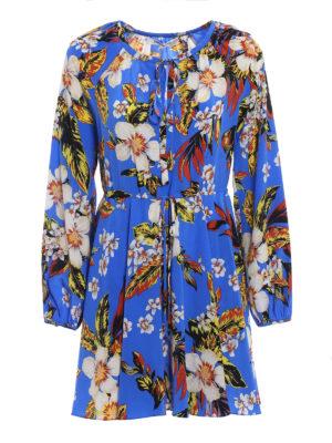 Diane von Furstenberg: abiti corti - Abito a fiori in seta
