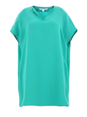 Diane Von Furstenberg: short dresses - Kora short sleeve tunic crepe dress