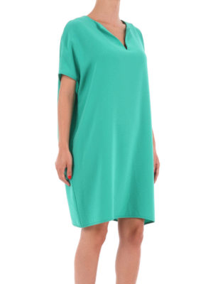 Diane Von Furstenberg: short dresses online - Kora short sleeve tunic crepe dress