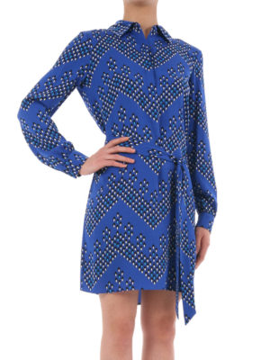 Diane Von Furstenberg: short dresses online - Patterned silk wrap dress