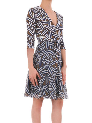 Diane Von Furstenberg: short dresses online - Printed silk chiffon wrap dress