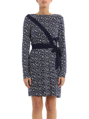Diane Von Furstenberg: short dresses online - Vienna silk jersey wrap dress