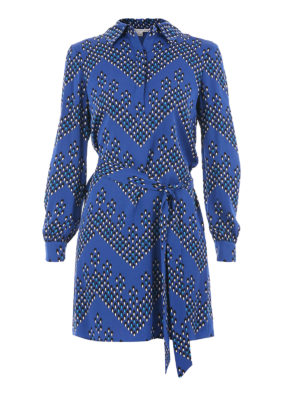 Diane Von Furstenberg: short dresses - Patterned silk wrap dress