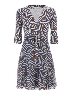 Diane Von Furstenberg: short dresses - Printed silk chiffon wrap dress