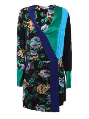 Diane Von Furstenberg: short dresses - Printed silk wrap mini dress