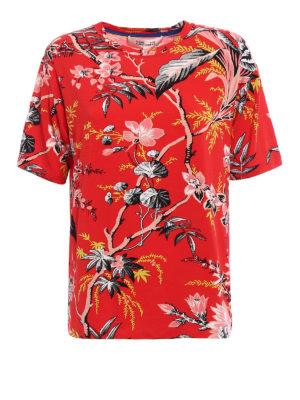 Diane Von Furstenberg: t-shirts - Floral jersey boyfriend T-shirt
