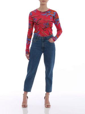 Diane Von Furstenberg: t-shirts online - Floral stretch fine mesh Tee