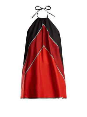 Diane Von Furstenberg: Tops & Tank tops - Colour block silk twill top