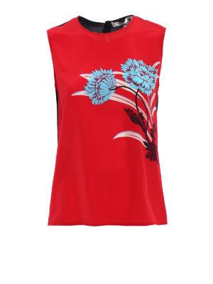 Diane Von Furstenberg: Tops & Tank tops - Crepe de chine printed tank top