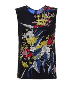 Diane Von Furstenberg: Tops & Tank tops - Floral silk crepe de chine tank top
