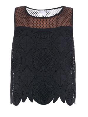 Diane Von Furstenberg: Tops & Tank tops - Lila Spiral lace crop top