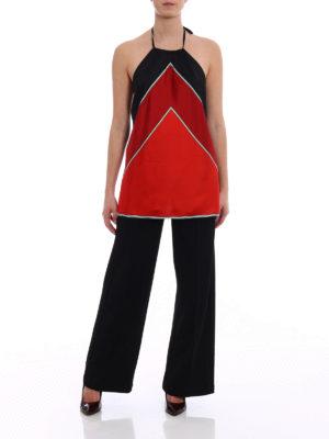 Diane Von Furstenberg: Tops & Tank tops online - Colour block silk twill top