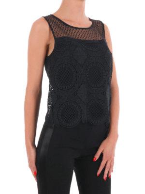Diane Von Furstenberg: Tops & Tank tops online - Lila Spiral lace crop top