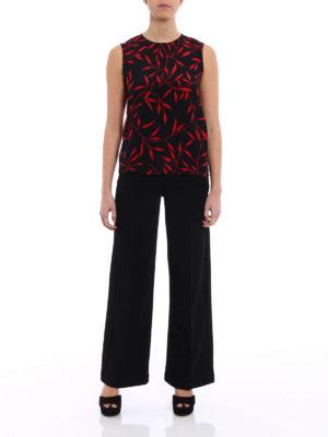 Diane Von Furstenberg: Tops & Tank tops online - Multi pattern silk Sleeveless Shell