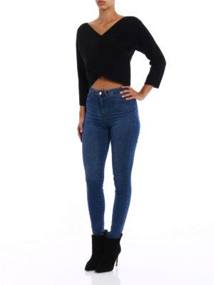 Diane Von Furstenberg: v necks online - Cashmere wrap crop sweater