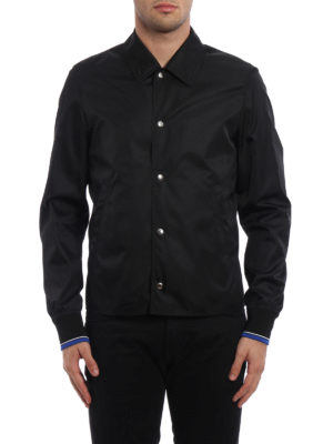 Dior: casual jackets online - Printed back coated nylon jacket