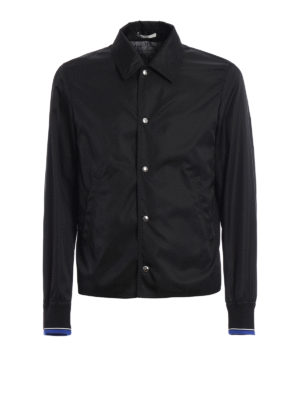 Dior: casual jackets - Printed back coated nylon jacket