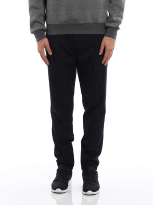 Dior: casual trousers online - Wool trousers with drawstring