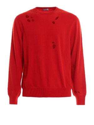 Dior: crew necks - Embroidered holes crewneck