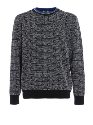 Dior: crew necks - Newave wool blend jacquard sweater