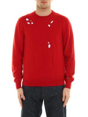 Dior: crew necks online - Embroidered holes crewneck