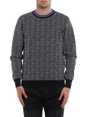 Dior: crew necks online - Newave wool blend jacquard sweater