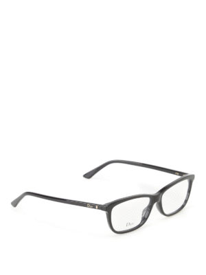 Dior: glasses - Gold-tone logo optical glasses