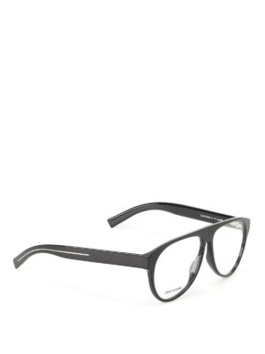 Dior: glasses - Optyl black aviator optical glasses