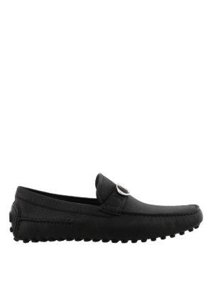 DIOR: Mocassini e slippers - Intramontabile mocassino nero con logo CD