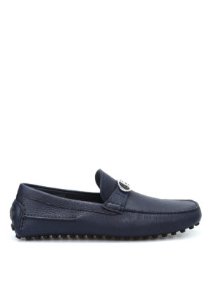 Dior: Loafers & Slippers - Logo clamp leather loafers