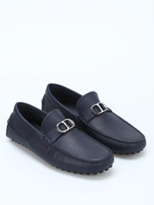 Dior: Loafers & Slippers online - Logo clamp leather loafers