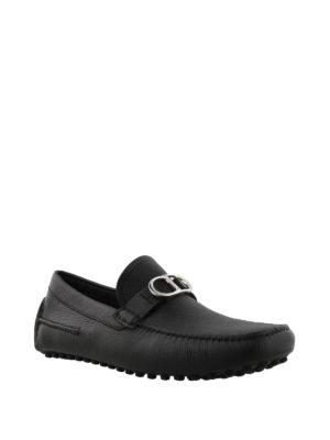 DIOR: Mocassini e slippers online - Intramontabile mocassino nero con logo CD