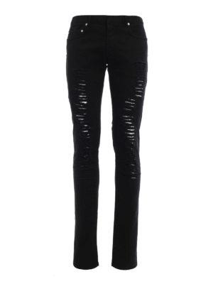 Dior: skinny jeans - Ripped denim jeans