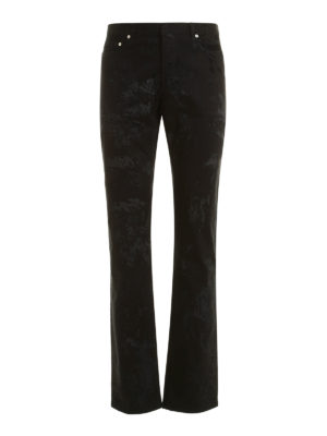 Dior: straight leg jeans - All over flocking jeans