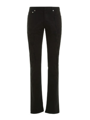 Dior: straight leg jeans - Jeans with patched rips