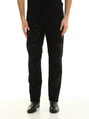 Dior: straight leg jeans online - All over flocking jeans