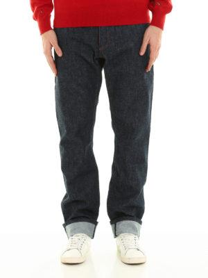 Dior: straight leg jeans online - Embroidered denim jeans